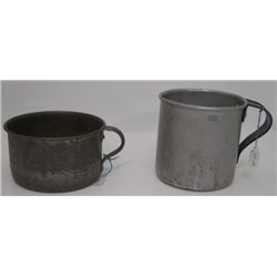 Two Military - Tin Cups