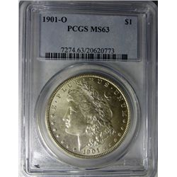 1901 O MORGAN DOLLAR PCGS MS63