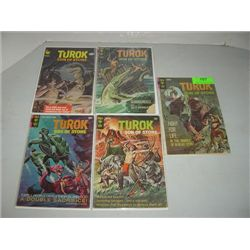 LOT 5 VINTAGE GOLD KEY COMIC BOOKS TUROK
