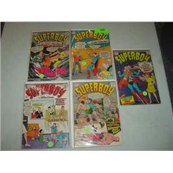 LOT 5 DC COMICS SUPERBOY COMIC BOOKS