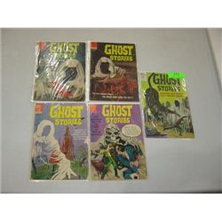 LOT 5 VINTAGE DELL COMI BOOKS GHOST STORIES