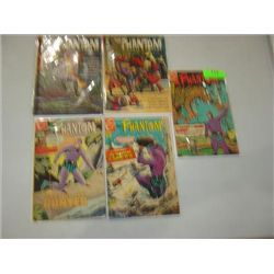 LOT 5 COMIC BOOKS CHARLTON GOLD KEY THE PHANTOM