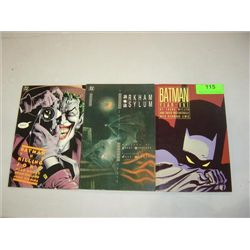 LOT 3 DC COMICS BATMAN NOVELS YEAR ONE