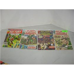 LOT 4 MARVEL SGT FURY COMIC BOOKS