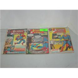 LOT 3 DC ACTION COMICS COMIC BOOKS