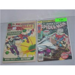 LOT 2 MARVEL COMICS SPIDERMAN COMIC BOOKS