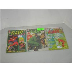 LOT 3 DC COMICS THE FLASH COMIC BOOKS