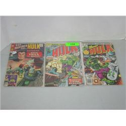 LOT 3 MARVEL COMICS THE INCREDIBLE HULK COMIC BOOK
