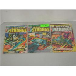 LOT 3 MARVEL COMICS DOCTOR STRANGE COMIC BOOKS