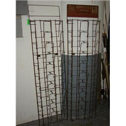 LOT 2 VINTAGE COMIC BOOK RACKS DISPLAYS UNRESTORED