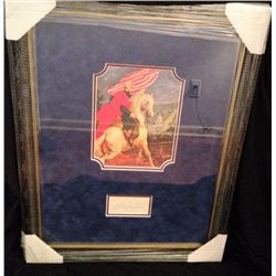 FRAMED GEORGE WASHINGTON CUT SIGNATURE WITH PRINT