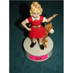 LITTLE ORPHAN ANNIE SANDY PORCELAIN MUSIC BOX
