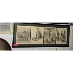 LLOYD OSTENDORF ABRAHAM ABE LINCOLN SURVEY PRINTS