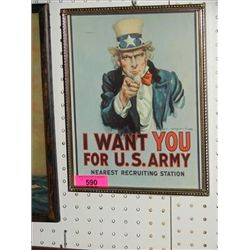 UNCLE SAM RECRUITING POSTER PRINT JAMES FLAGG
