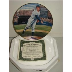 THE BRADFORD EXCHANGE DON LARSEN PLATE