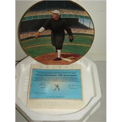 DELPHI BRADFORD EXCHANGE CHRISTY MATHEWSON PLATE