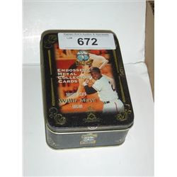 COOPERSTOWN COLLECTION WILLIE MAYS METAL CARDS