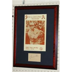 JIMMIE FOXX SIGNATURE PHILADELPHIA ATHLETICS PRINT