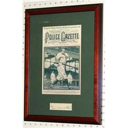 BABE RUTH PRINT GEORGE HERMAN RUTH SIGNATURE