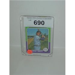 TOPPS #228 GEORGE BRETT BASEBALL CARD ROYALS