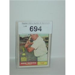 TOPPS #35 RON SANTO BASEBALL CARD CUBS