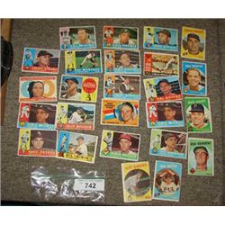 LOT 25 1950S TOPPS BASEBALL CARDS MILT PAPPAS