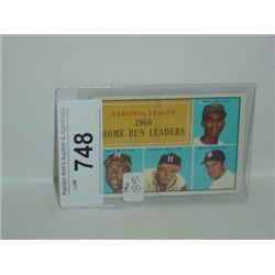 TOPPS NATIONAL LEAGUE 1960 HOME RUN LEADERS CARD