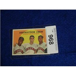 TOPPS #166 DESTRUCTION CREW BASEBALL CARD