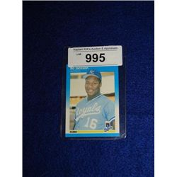 FLEER #369 BO JACKSON BASEBALL CARD ROYALS