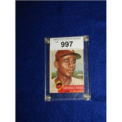 TOPPS #220 SATCHELL PAIGE BASEBALL CARD