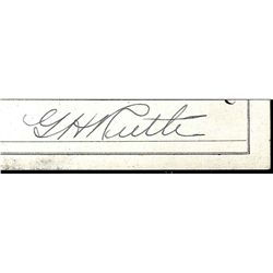 BABE RUTH CUT SIGNATURE AUTOGRAPH