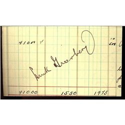 HANK GREENBERG CUT SIGNATURE AUTOGRAPH