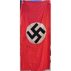 LARGE ORIGINAL NAZI PARTY BANNER FROM TOWNS PARTY