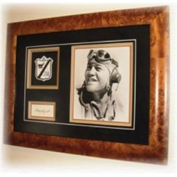 Gregory Pappy Boyington Framed Photo with Signature &