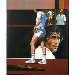 William Chambers Original Tennis Painting Ilie Nastase