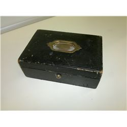 Antique Jewelry Box L 9in W 6in H 3in