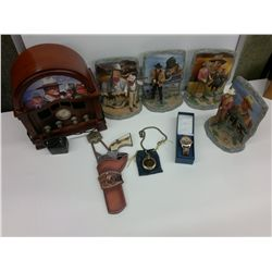 John Wayne Memorabilia Radio, Book ends, watches