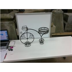 Wrought Iron Bike shaped plant holder