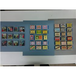 Collection of Match Boxes mounted to card stock.