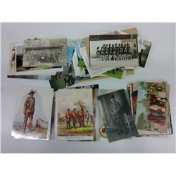 Bag of Military themed postcards