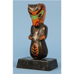 Ellen Neel Carved Otter Totem - Alert Bay, B.C. - Unsigned 8 3/4  H. 4 3/8  W. Base  Good Condition