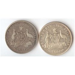 1914 London Mint & 1914 H Heaton Mint