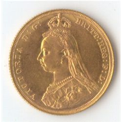1887 M Jubilee Sovereign