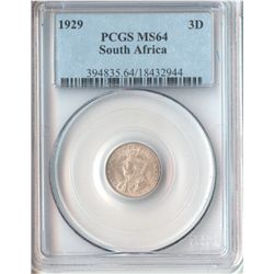 South Africa 1929 Threepence