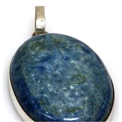 Natural 132.06 ctw Semi Precious .925 Sterling Pendant