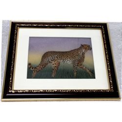 Gemstone Painting Leopard ( MADE BY REAL GEMS STONE)