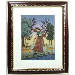 Indian Beauty  6 Art Craft Gemstone Painting Dim 12x10