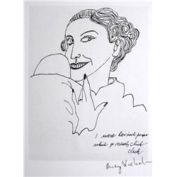 ANDY WARHOL, Signed Print, I were her inch pumps