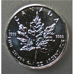 2006 $5.00 CANADIAN 1 Oz. .9999 SILVER MAPLE LEAF