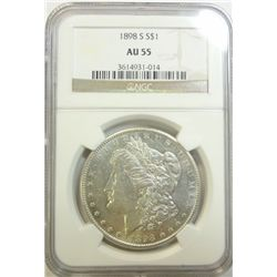 1898S Morgan $  NGC55   GS 60 bid = $205